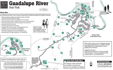 guadalupe river texas map guadalupe river state park
