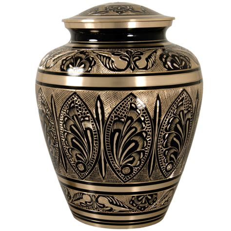 cremation urns wholesale cremation urn ornate etched black and brass