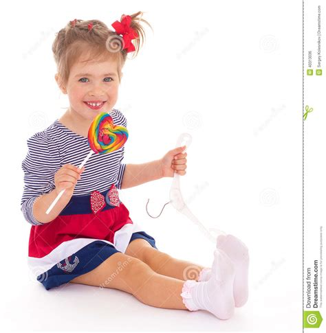 charming little models charming little girl with a lollipop stock photo image