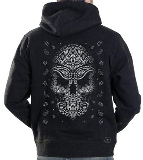 bandana design hoodie bandana skull hoodie sweat shirt back alley wear