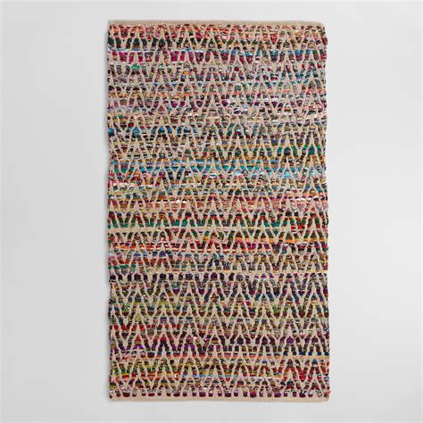 chindi rug world market chevron recycled cotton chindi area rug world market