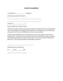 Sample Of Authorization Letter As Guardian Affidavit Of Guardianship