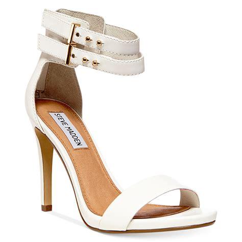 lyst steve madden kaylaa two sandals in white