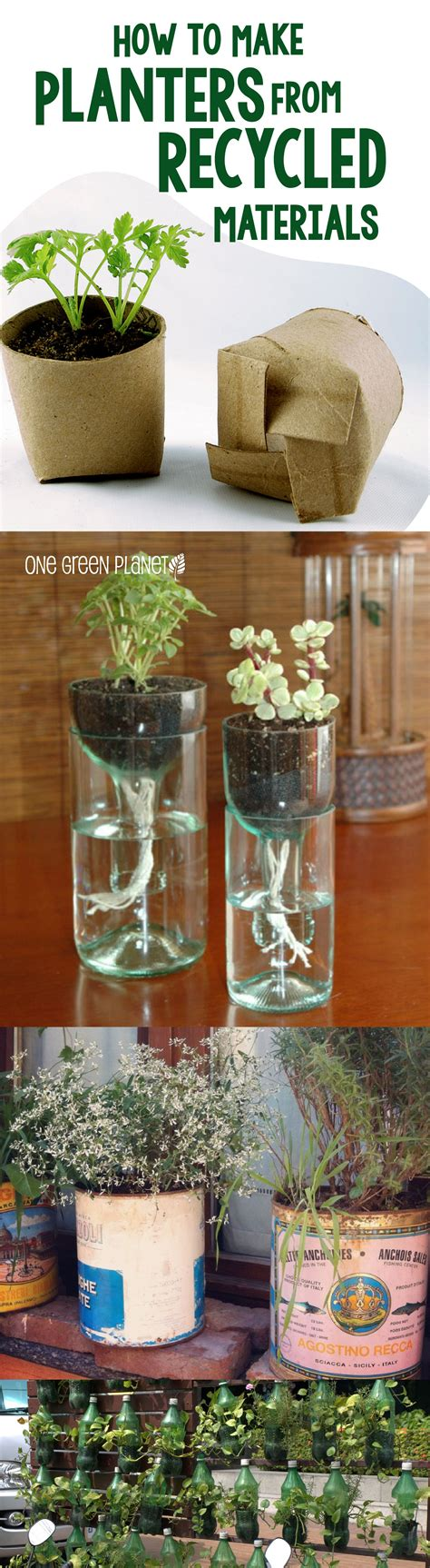 cool planters  recycled materials wine