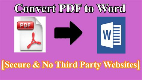 convert pdf to word safe how to convert pdf to word safe no third party websites