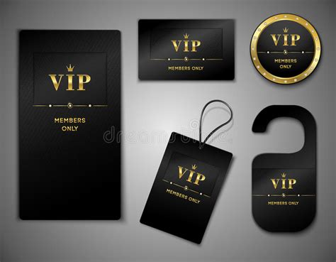 vip card design template vip cards design template stock vector image 44321860