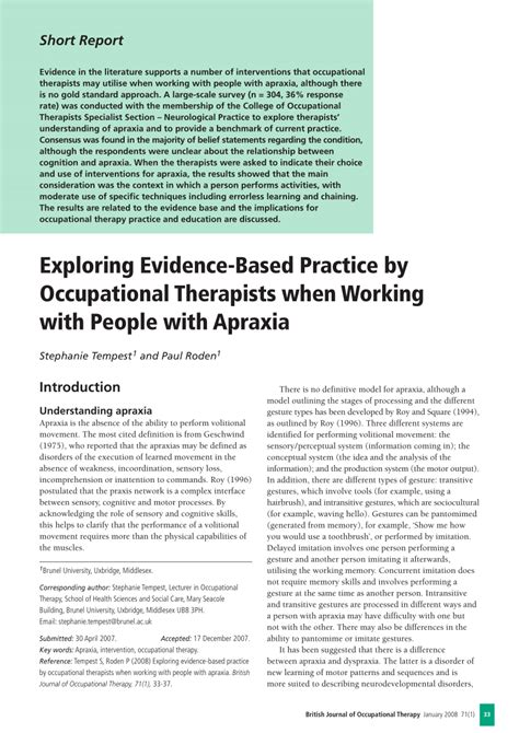 Exploring Evidence Based Practice pdf exploring evidence based practice by occupational