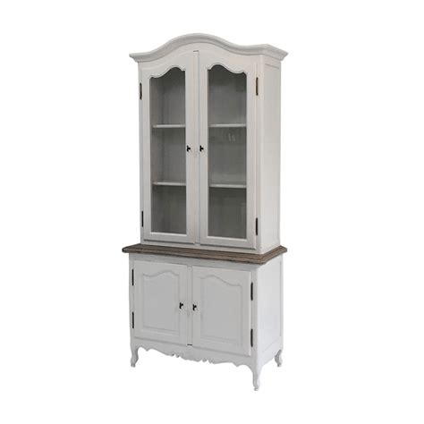 Classic Cupboard - provincial classic glass display cupboard vintage