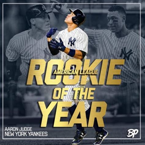 aaron judge unanimously named al rookie of the year