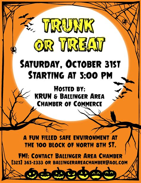 trunk or treat flyer corey van zandt