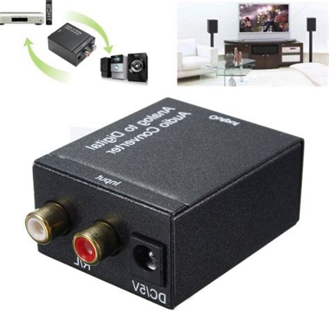 Baru Analog Rca To Digital Optical Coaxial Toslink Audio Converter analog l r to digital spdif coaxial coax rca with optical toslink audio converter alex nld