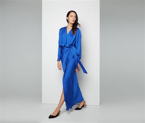 Agatha Dress Blue fame partners agata dress in blue lyst