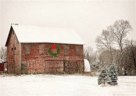 barn decorated for christmas christmas pinterest