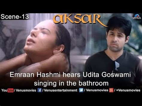 singin in the bathtub emraan hashmi hears udita goswami singing in the bathroom