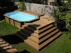piscine hors sol bois piscine hors sol en bois pas cher lareduc