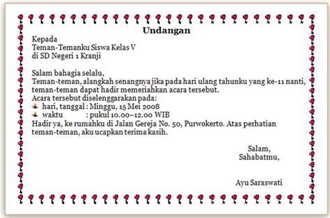 menulis surat undangan coretan guru