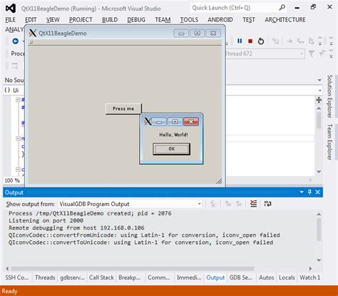 tutorial qt linux creating qt projects for beaglebone with visual studio
