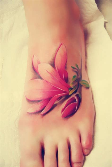 one piece foot tattoo 17 best ideas about magnolia tattoo on pinterest