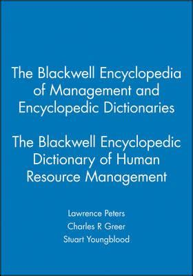 reference books human resource management the blackwell encyclopedic dictionary of human resource