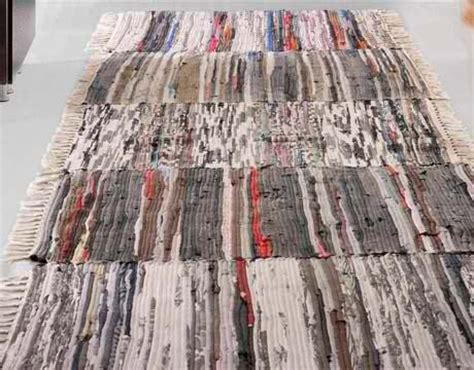 sew rugs together make a rug runner by stitching several rag rugs together rags to rich recycled repurposed