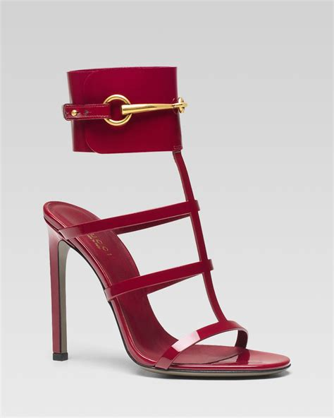 gucci high heel sandals shoeniverse gucci ursula cage high heel sandal in or
