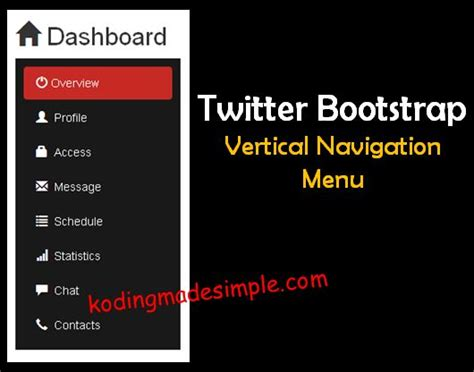 bootstrap menu template bootstrap sidebar menu vertical menu boostrap