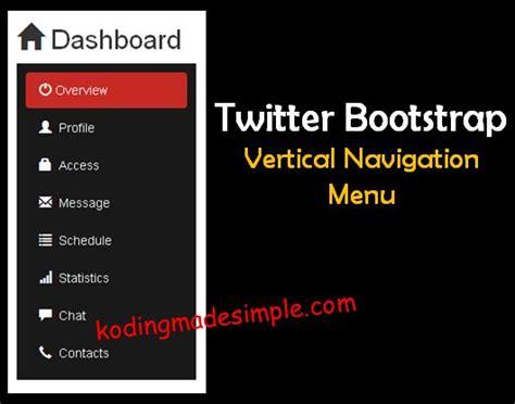 bootstrap pinterest layout css bootstrap sidebar menu vertical menu twitter boostrap