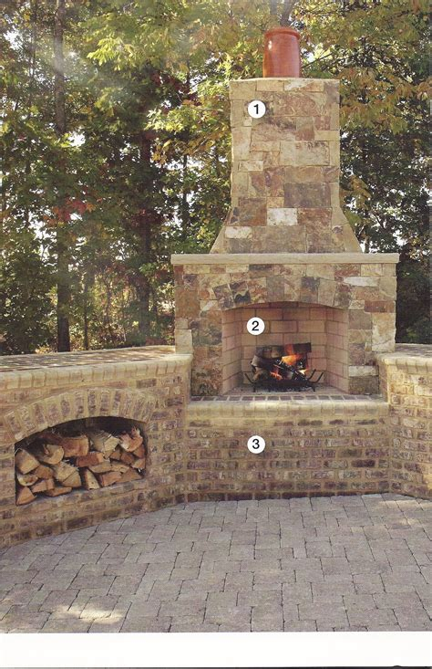 Paver Fireplace by Bricks Tiles Fireplace Showroom And Distribution Center