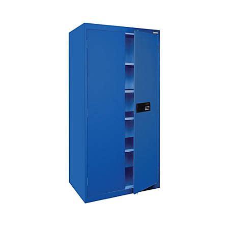 sandusky 72 steel storage cabinet sandusky keyless electronic storage cabinet 72 h x 36 w x