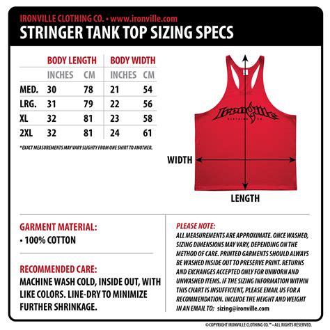 bench clothing size chart original ghost bodybuilder bodybuilding stringer tank
