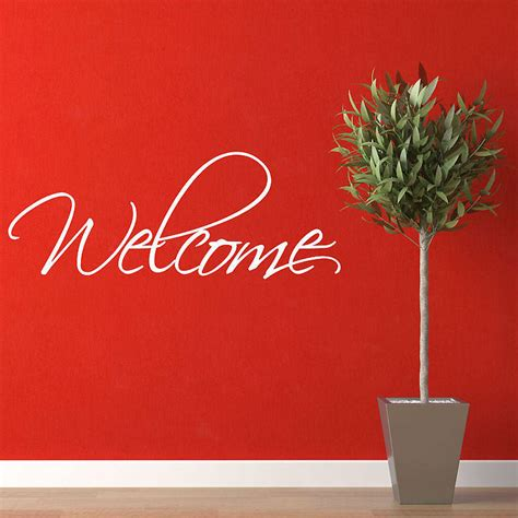 welcome wall stickers by parkins interiors notonthehighstreet