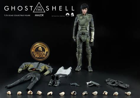 the figure ghost in the shell major 1 6 scale figure by threezero