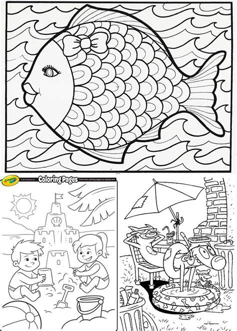imagenes de las vacaciones para colorear 25 dibujos para colorear sobre el verano pequeocio