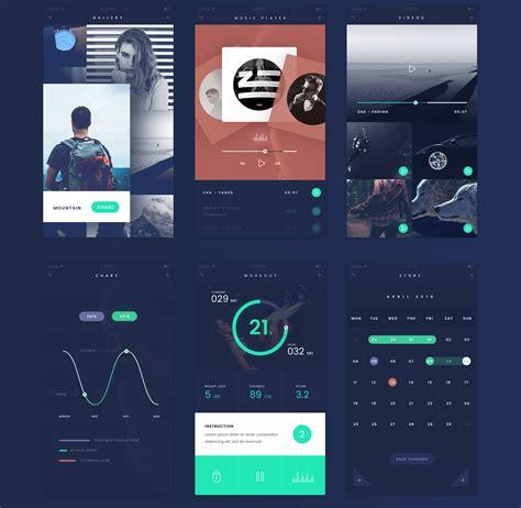 top 35 free mobile ui kits for app designers 2017 colorlib free fade app ui kit psd file graphic google tasty