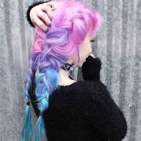 white and blue hair extensions how to dye white to ombre pink purple and blue