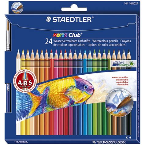 Hexagonal Pastel Bag 12w Faber Castell staedtler watercolour pencils 24 pack officeworks
