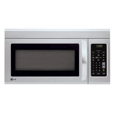 Microwave Oven Lg lmv1831stlg appliances 1 8 cu ft 1000w the range