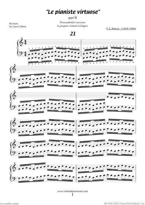 Junior Hanon hanon le pianiste virtuose part ii a sheet for piano