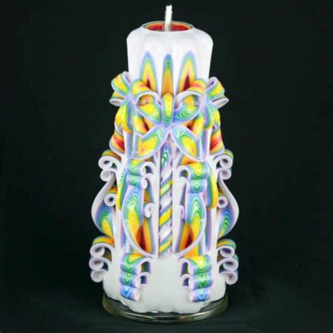 Handmade Decorative Candles - carved candle colorful candle handmade candle
