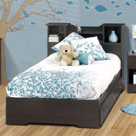 childrens bed with bookcase headboard pocono bed with bookcase headboard in espresso laminate