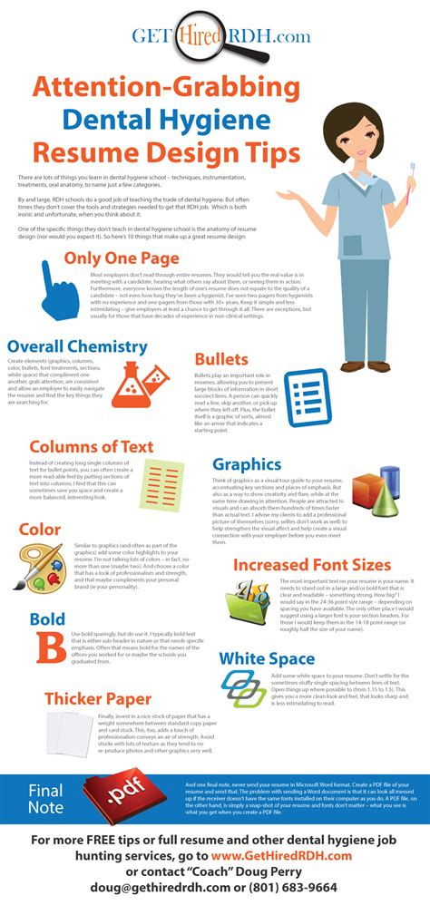 attention grabbing dental hygiene resume design tips www