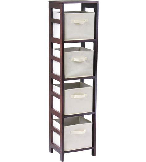 4 basket storage shelf bookcase in shelves with baskets