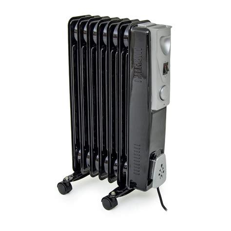room heater radiator black 1500w 1 5kw 7 fin slimline filled radiator room heater ebay