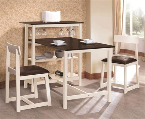 small dining set with storage gallery