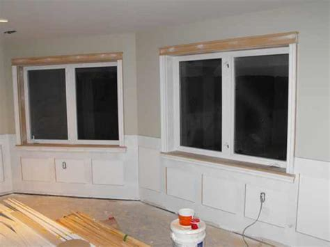 Wainscoting Around Windows Wainscoting In The Basement Part 13 Woodchuckcanuck