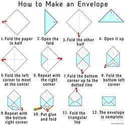 How Do U Make A Paper Envelope - how to make your own origami envelope from paper