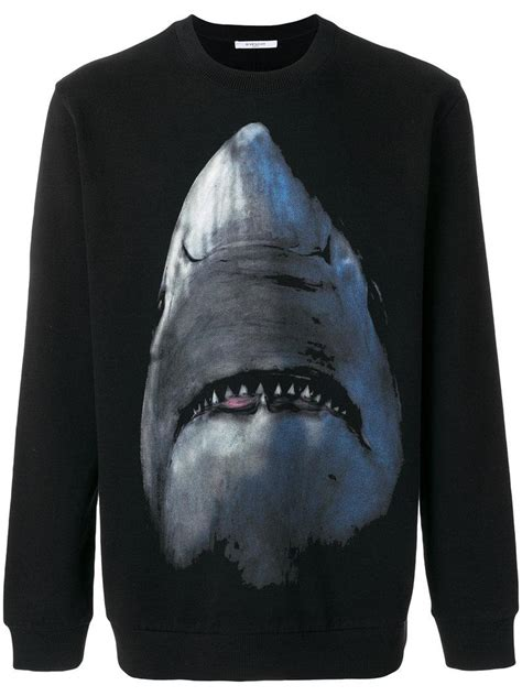 lyst givenchy shark print sweatshirt in black for