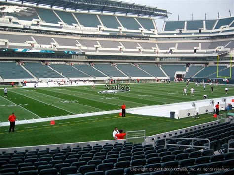 sectioned under 136 lincoln financial field section 136 philadelphia eagles