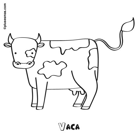 imagenes para colorear una vaca vaca para colorear