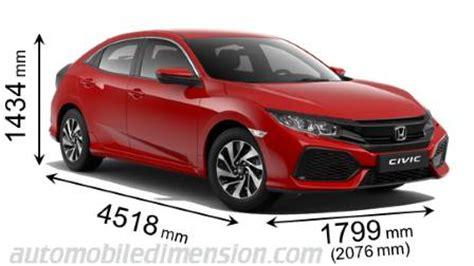 Honda Civic Dimensions by Honda Civic Dimensions Inches 2017 2018 Honda Reviews